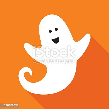 istock Cute Little Ghost Icon 1176858331