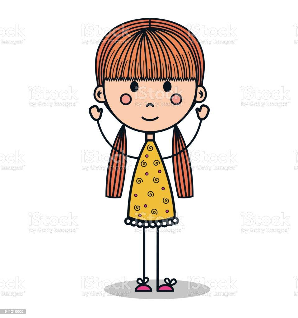 adorable petite fille dessin cliparts vectoriels et plus d 39 images de adulte 941216606 istock. Black Bedroom Furniture Sets. Home Design Ideas