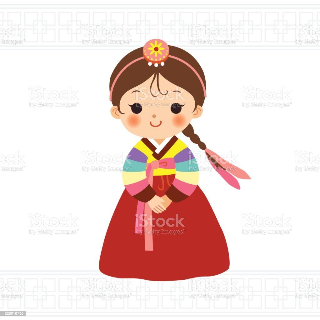royalty free korean culture clip art vector images illustrations rh istockphoto com korea clipart clipart korean girl