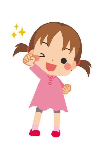 bildbanksillustrationer, clip art samt tecknat material och ikoner med söt liten flicka - sparkle teen girl