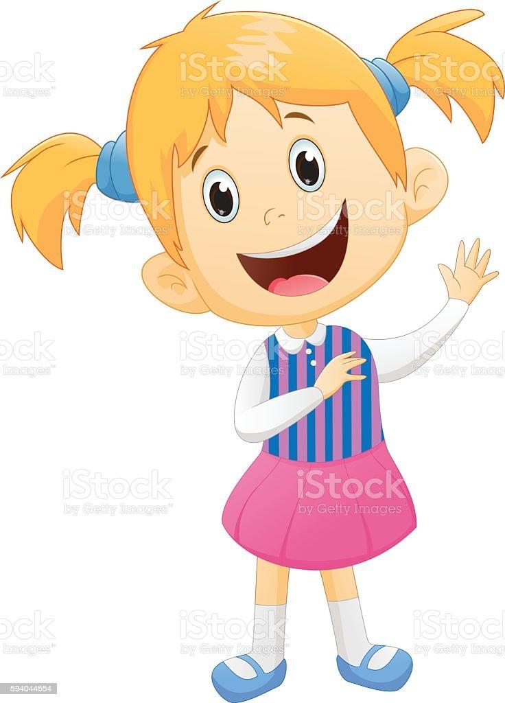 royalty free girl waving clip art vector images