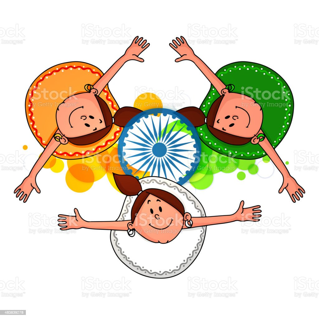 royalty free indian girl celebrating happy independence day of india rh istockphoto com  indian independence day border clipart