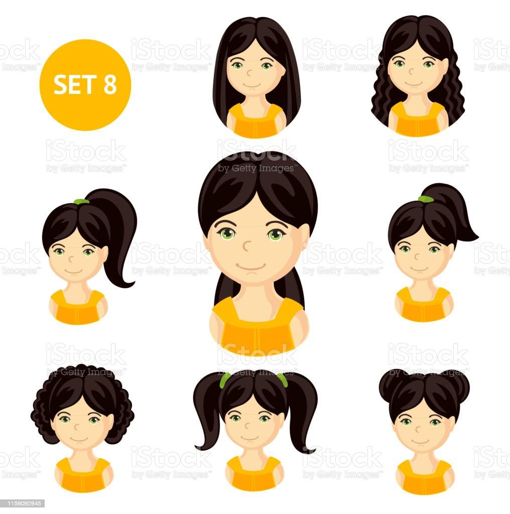 髪型 イラスト 女の子