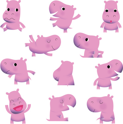 Cute Little Hippos.