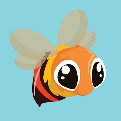 cute little honey bee, cartoon character