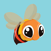 cute little honey bee, cartoon character