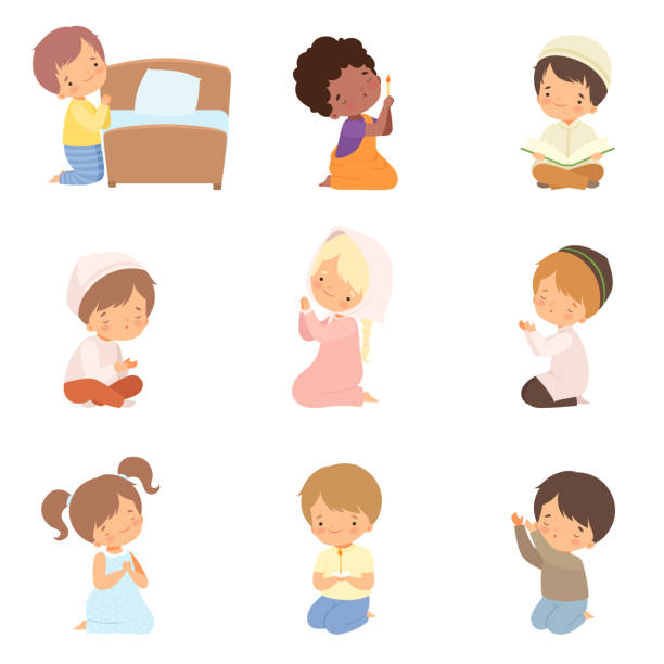 Pray clipart - Clipground | Children praying, Kneeling in prayer, Sunday  school kids