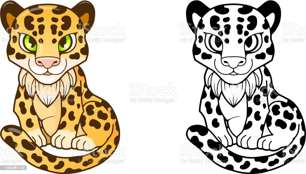 Ilustración de Lindo Pequeño Leopardo Ilustración Divertida Diseño y ...
