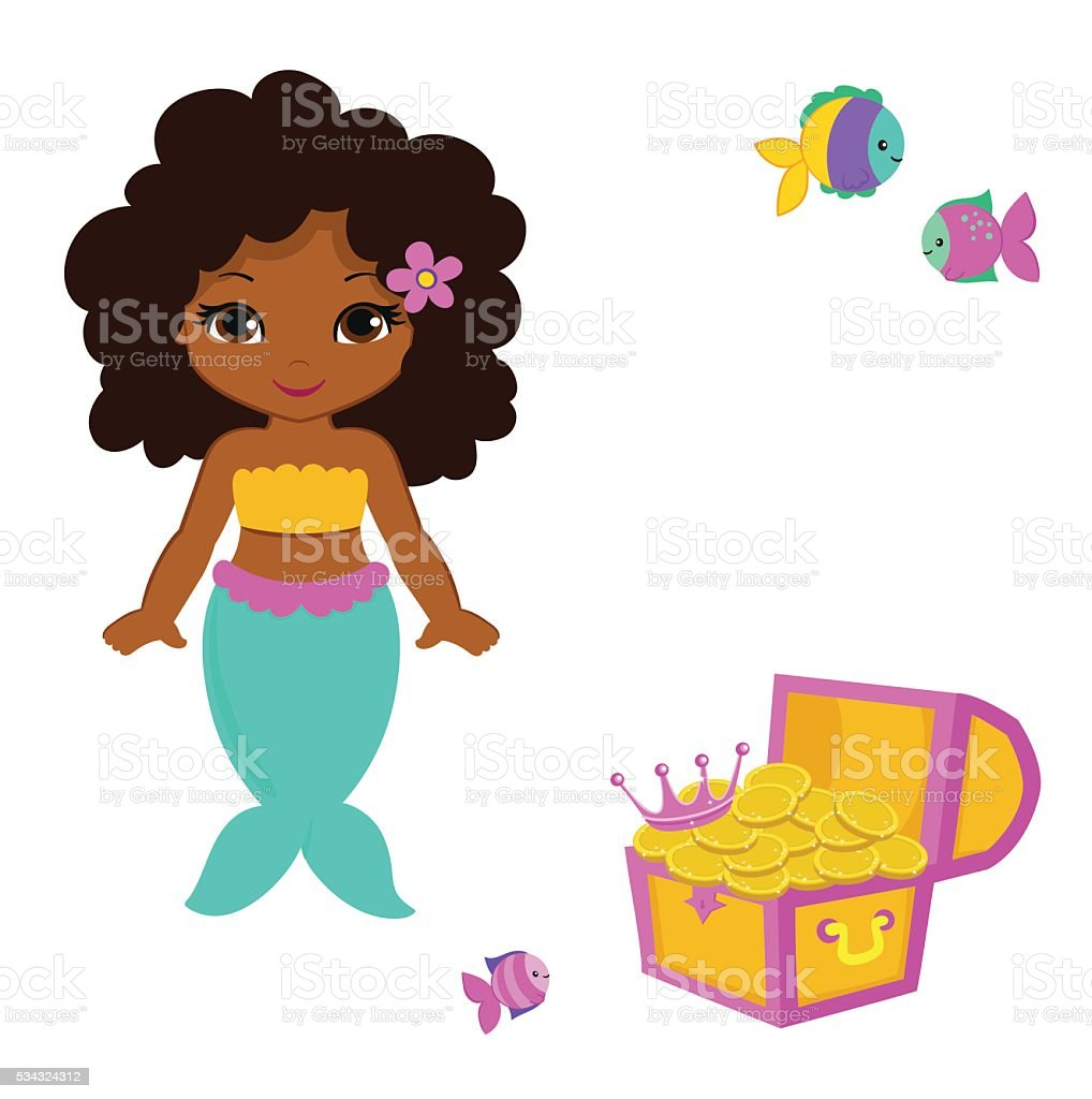 royalty free african american baby girl clip art vector images rh istockphoto com african american baby angel clipart african american baby girl clipart free