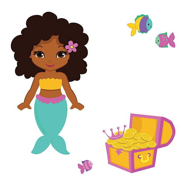 Cute little mermaid.Vector illustration. vector art illustration