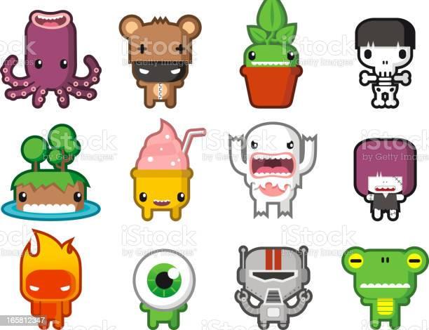 Cute little monsters vector id165812347?b=1&k=6&m=165812347&s=612x612&h=1u9wgimvieyid2c8uoxh0wuhzcuwv17 iungxk7zsrk=