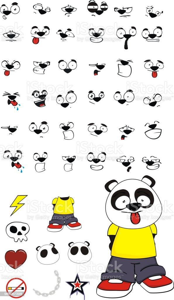 cute little panda bear kid expressions set cute little panda bear kid expressions set - stockowe grafiki wektorowe i więcej obrazów ameryka Łacińska royalty-free