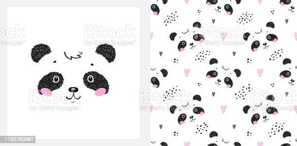 Cute little panda bear with hearts vector seamless childish pattern vector id1155763967?b=1&k=6&m=1155763967&s=612x612&h=e pvochydetc3kvey rkpjgd e3xzxuximcrsqnwi w=