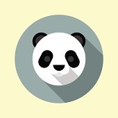 Cute little panda icon. Animal icons series.