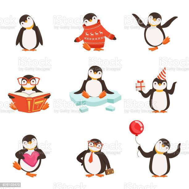 Cute little penguin cartoon characters set for label design colorful vector id676103470?b=1&k=6&m=676103470&s=612x612&h=unhjdzlhvejyrbng zdbpoybsui3k3bbbobssgemloa=
