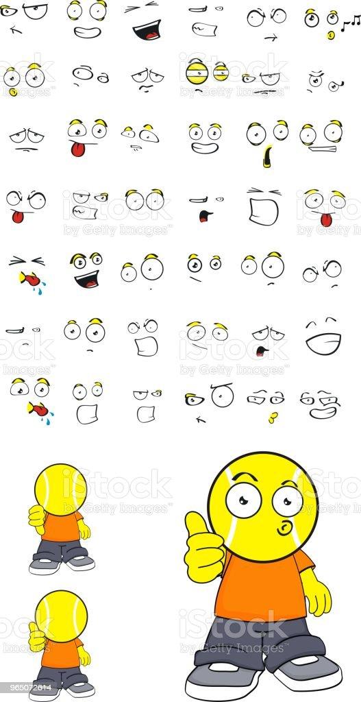 cute little tennis head kid expressions set cute little tennis head kid expressions set - stockowe grafiki wektorowe i więcej obrazów ameryka łacińska royalty-free