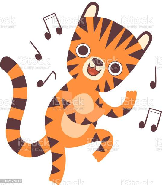 Cute little tiger listen to music and dancing adorable wild animal vector id1152476514?b=1&k=6&m=1152476514&s=612x612&h=i4i7qwfzxflan9glrvpt9y21lpm8t obp4cdevuhxke=