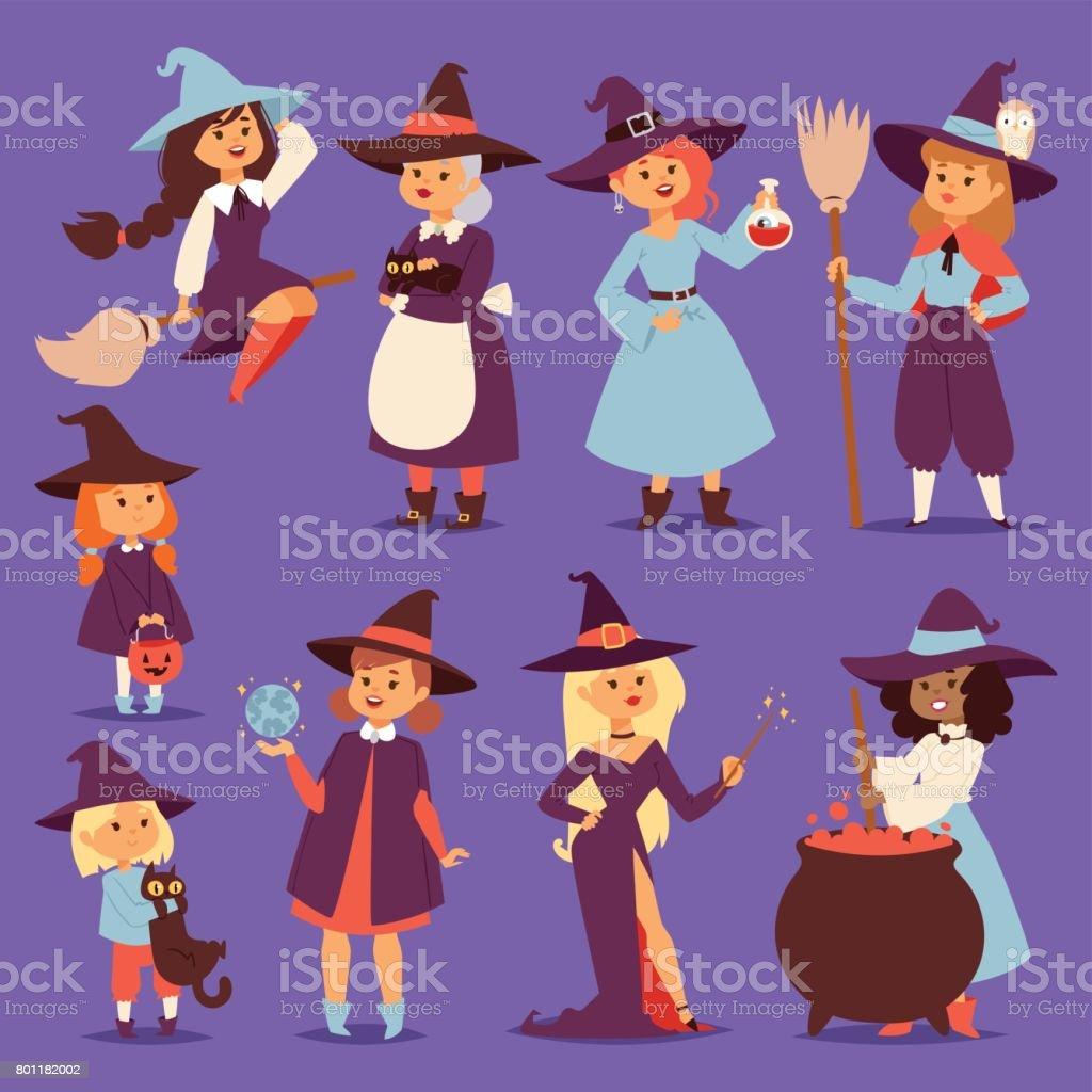 ほうきでかわいい魔女ばば Harridan ビクセン漫画猫袋魔法のハロウィーン