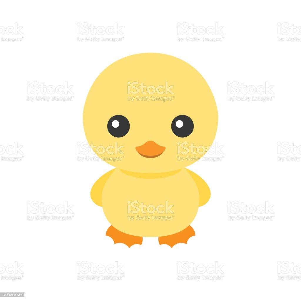 かわいい黄色のアヒル キャラクター イラストレーションの