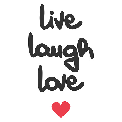 Download Cute Live Laugh Love Hand Written Lettering Vector Card ...
