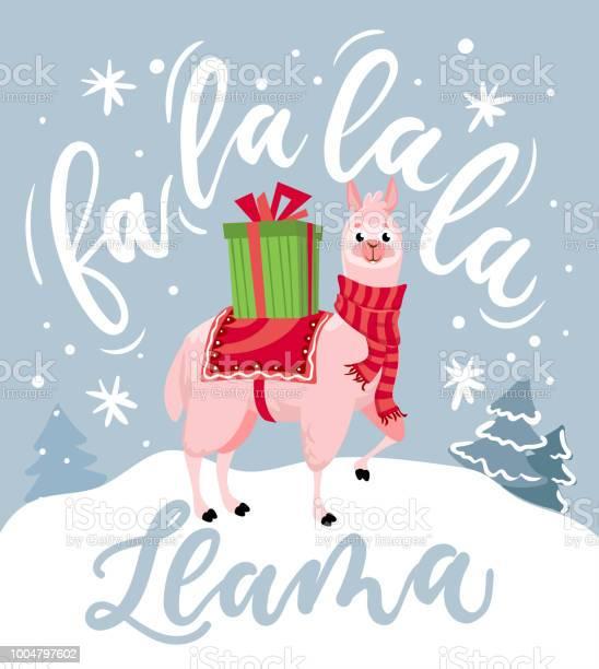 Cute llama christmas card with lettering inscription fa la la la new vector id1004797602?b=1&k=6&m=1004797602&s=612x612&h=zmgkq3rm ap7w1sr7 xtktjcwbgrabsawsflla u0 i=