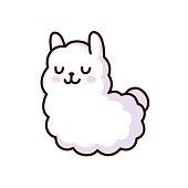 Cute llama illustration