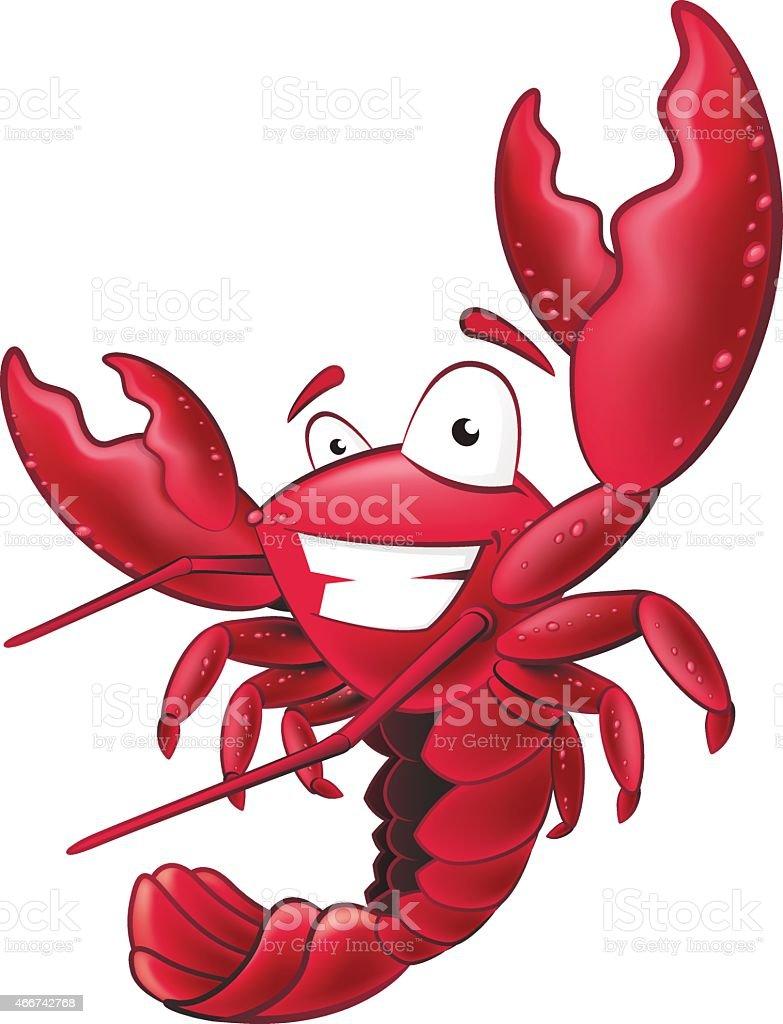 Cute Lobster Character. vector art illustration