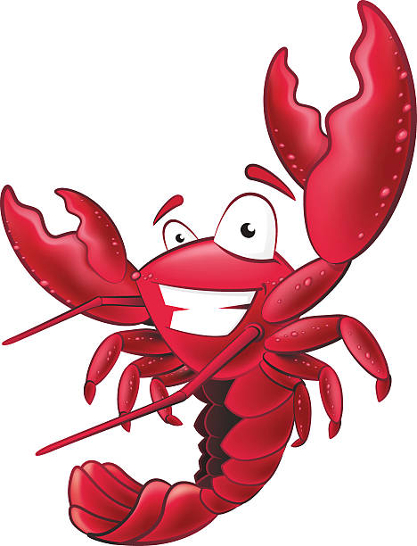 Cute Lobster Character. vector art illustration