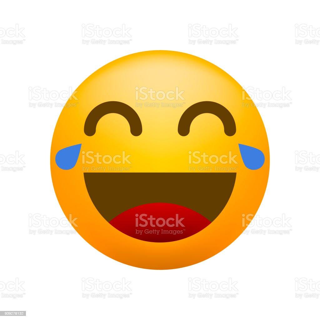 LOL engraçado Emoticon em fundo branco. Ilustração vetorial isolado - ilustração de arte em vetor