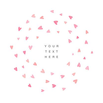 Cute love background. Frame design