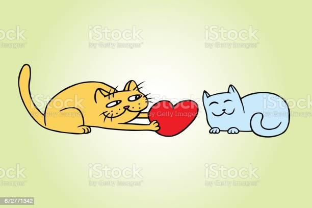Cute love yellow and blue cats vector illustration vector id672771342?b=1&k=6&m=672771342&s=612x612&h=vpqakgm4mrjgz 2gnq29dipaubbuhttde edw5xg4ys=