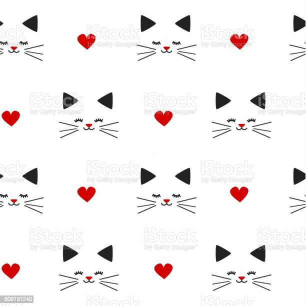 Cute lovely black white red seamless vector pattern background with vector id806191240?b=1&k=6&m=806191240&s=612x612&h=yt0vixi99pk5j9m1jsnslnilkgkqirvfhz9w3nj67ca=