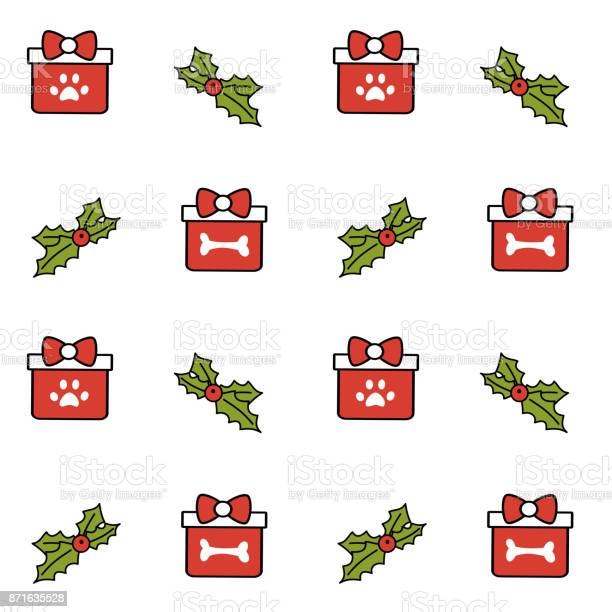 Cute lovely christmas gift box with bone and paw seamless vector vector id871635528?b=1&k=6&m=871635528&s=612x612&h=acszupal777fjasd6igh0dlwqnriv7zttatryf5gmwe=