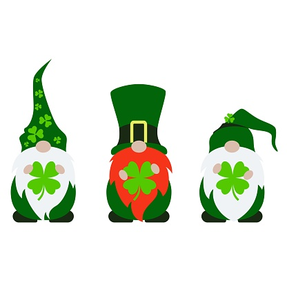 Cute Lucky Gnome Vector Illustration