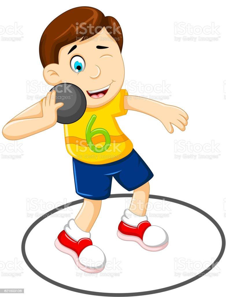 cute Man athlete doing shot put cute man athlete doing shot put – cliparts vectoriels et plus d'images de activité de loisirs libre de droits