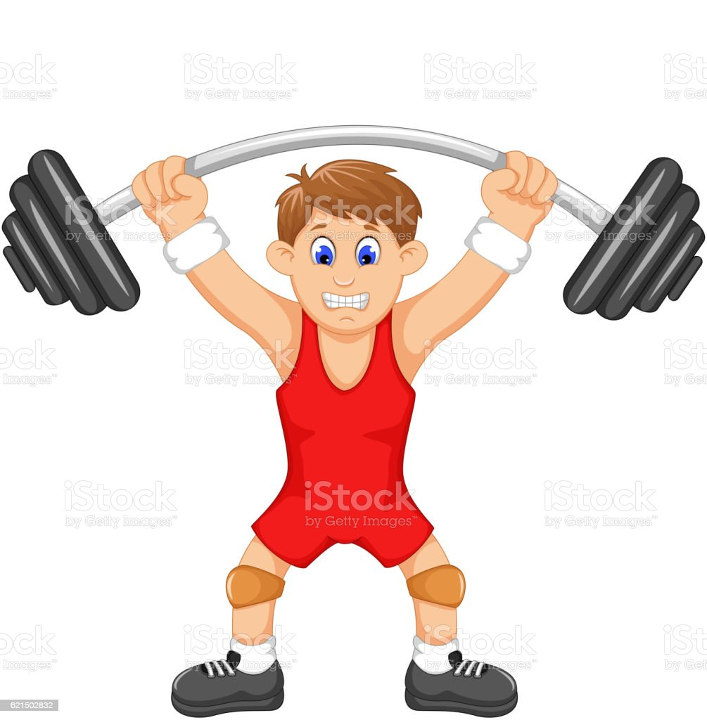 cute man athlete doing weightlifter cute man athlete doing weightlifter - immagini vettoriali stock e altre immagini di adulto royalty-free