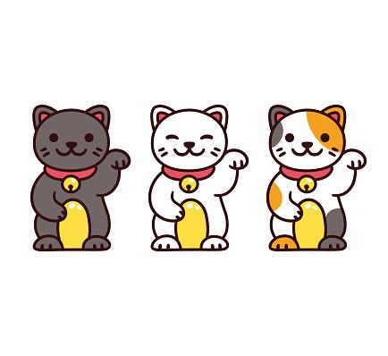 Cute Maneki Neko Cats