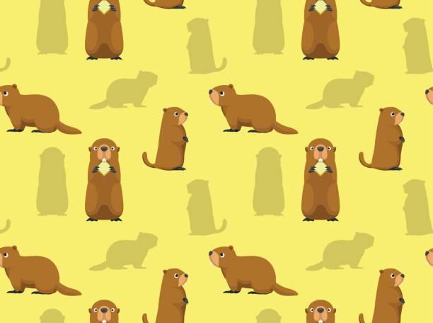 ilustraciones, imágenes clip art, dibujos animados e iconos de stock de fondo de pantalla de linda marmota - groundhog day