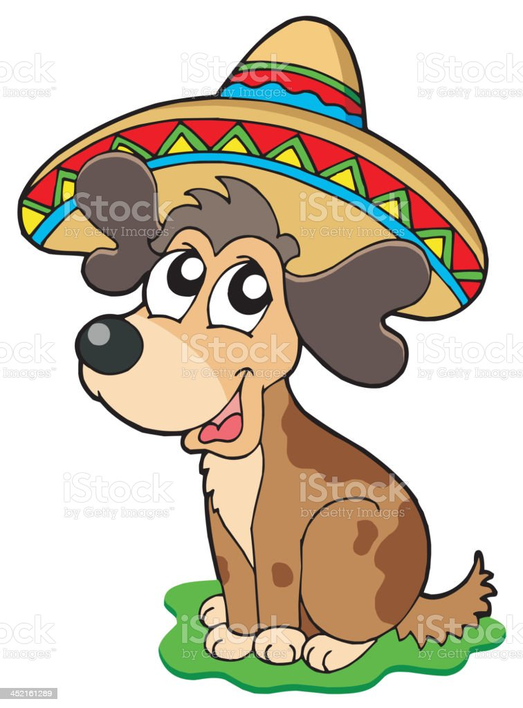 Cute Mexican dog royalty-free stock vector art