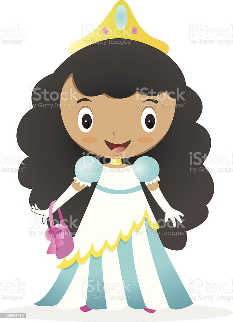 Cute Minority Princess vector art illustration