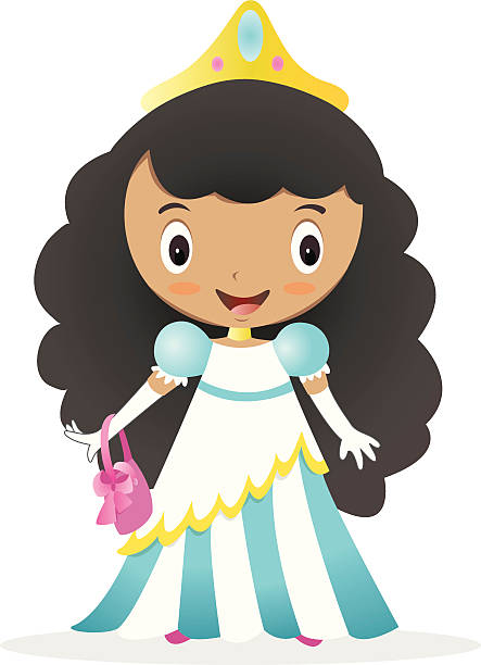 cute minority princess - minority stock illustrations, clip art, cartoons, & icons