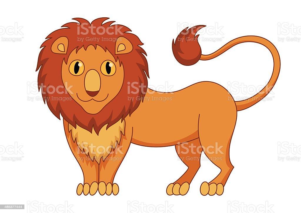 かわいい控えめなカットイラスト猫ライオンたてがみとコンセプト口輪