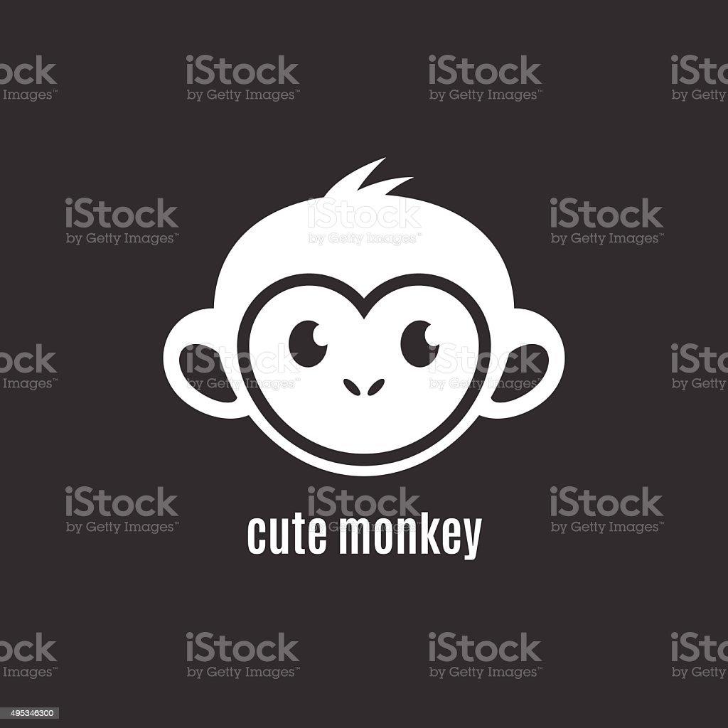 Süßes Affengesicht Auf Dunklem Hintergrund Neues Jahr 2016 Stock ...
