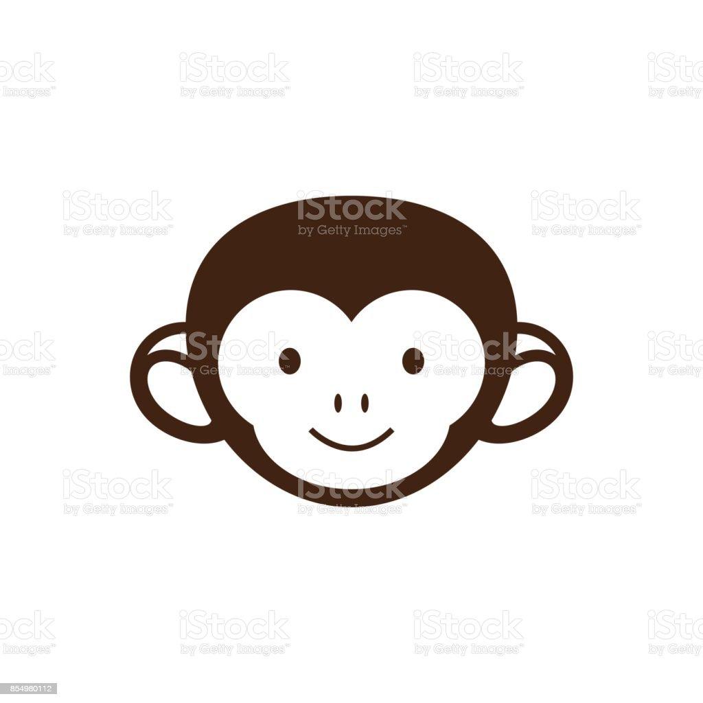 Niedlichen Affengesicht Vektorillustrationdesign Stock Vektor Art ...