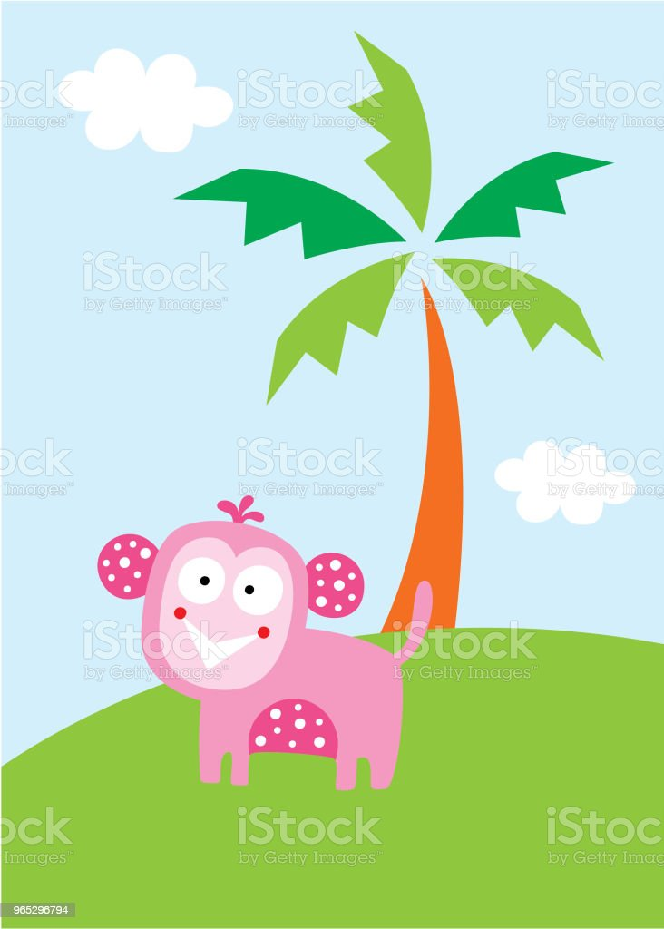 cute monkey in the garden wallpaper royalty-free cute monkey in the garden wallpaper stock vector art & more images of agricultural field