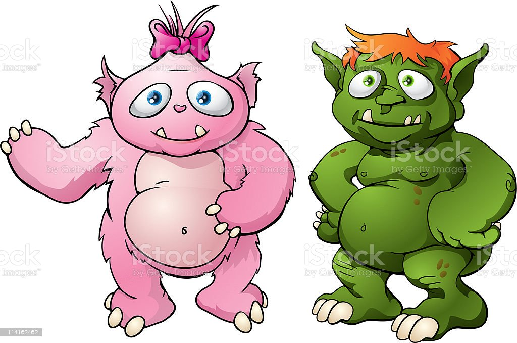 Cute monster cartoon characters royalty-free cute monster cartoon characters stock vector art & more images of adult