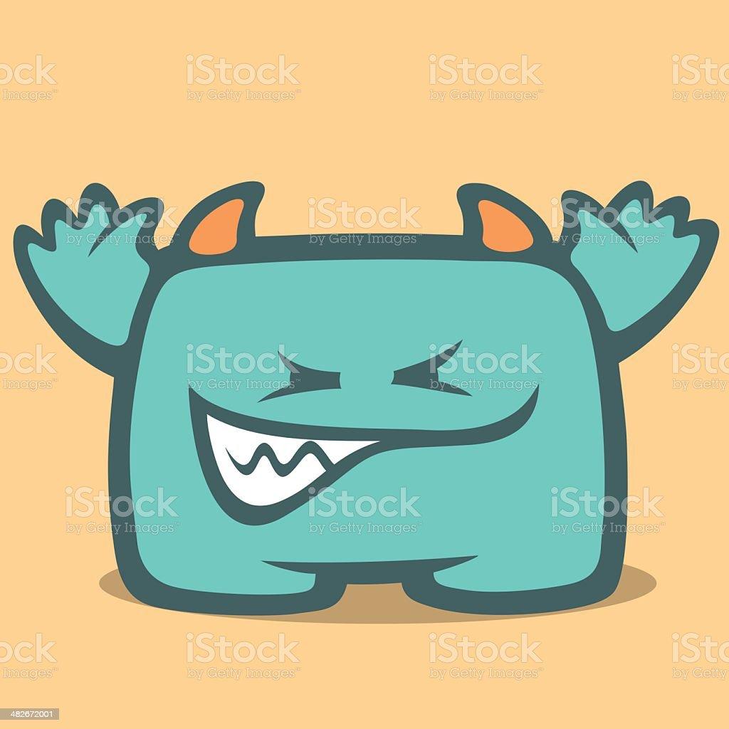 Cute Monster - Fifth vector art illustration