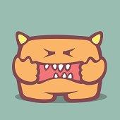 Cartoon monster.