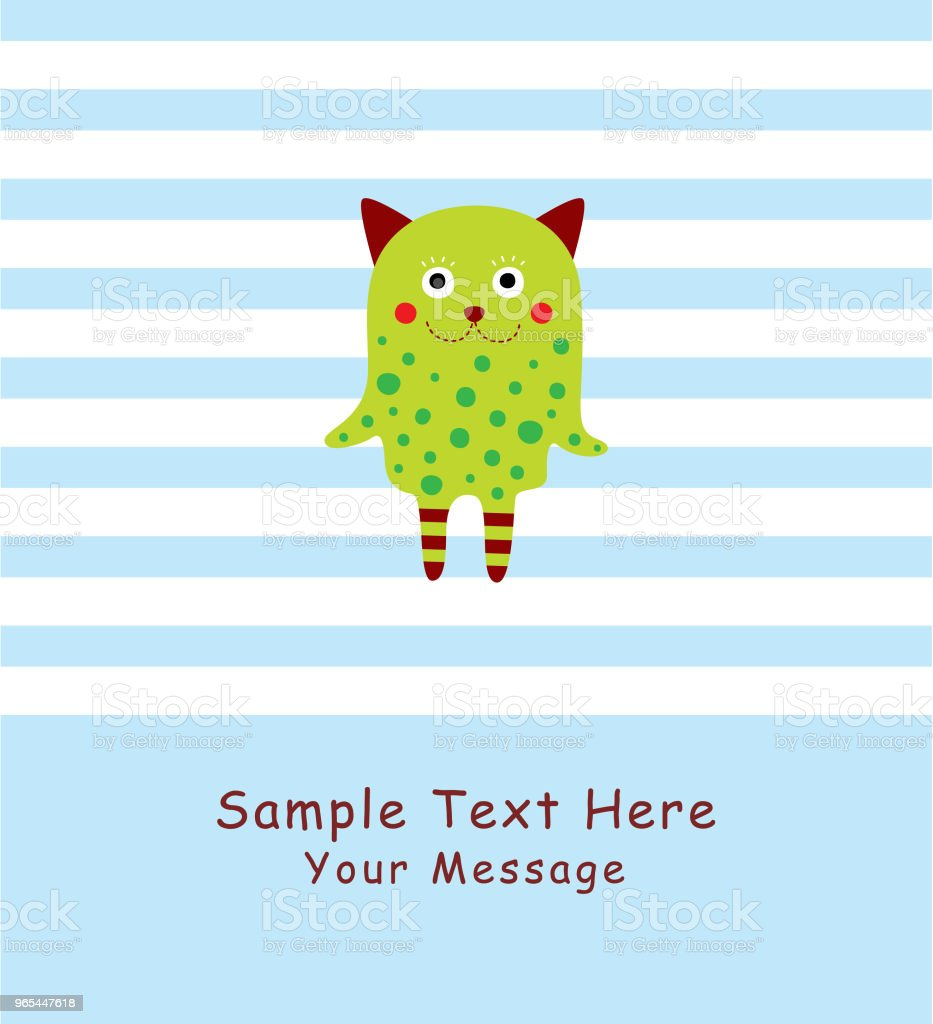uroczy potwór wektor kartki z życzeniami - Grafika wektorowa royalty-free (Baby Shower)