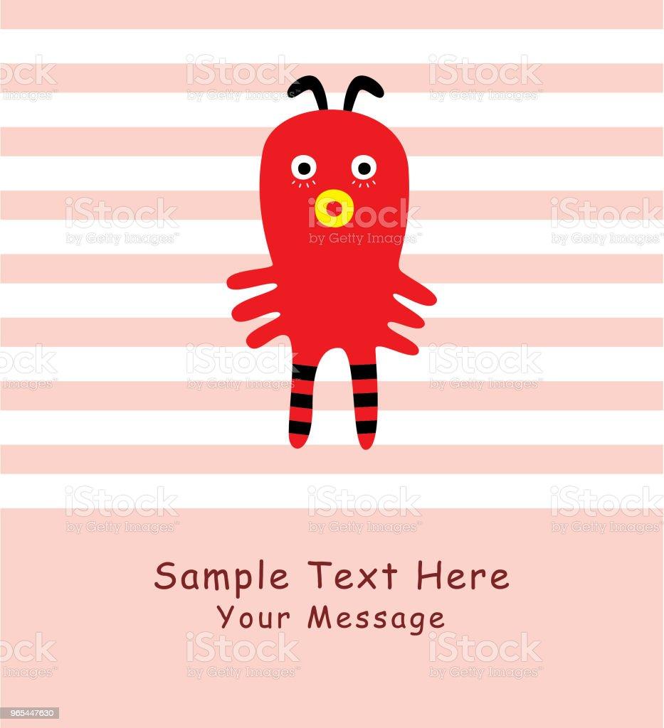 cute monster greeting card vector cute monster greeting card vector - stockowe grafiki wektorowe i więcej obrazów baby shower royalty-free